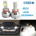 free shiping 3200LM 32W H11 CREE LED Projector Headlight Bulb Fog lamp Bulbs Kit+ Drivers