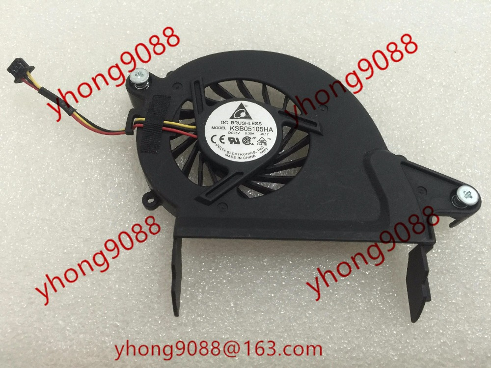 Free Shipping For DELTA  KSB05105HA, -9L17 DC 5V 0.35A 3-wire 3-Pin connector 40mm Server Laptop Cooling fan free shipping for delta ksb05105hc dc 5v 0 45a 4 wire 4 pin connector 40mm server laptop cooling fan