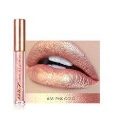 Liquid Matte Lipstick Diamond Makeup Lipstick Metallic Lip Gloss Stick Long Lasting Lipgloss