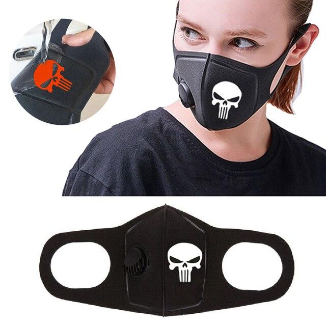 Respiratory Dust Mask Upgraded Version Men & Women Anti-fog Haze Dust Pm2.5 Pollen 3D Cropped Breathable Valve Skull Mouth Mask