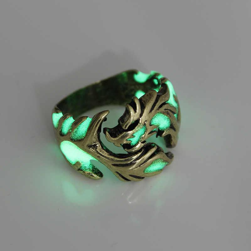 Naga Cincin untuk wanita pria jewelry rings