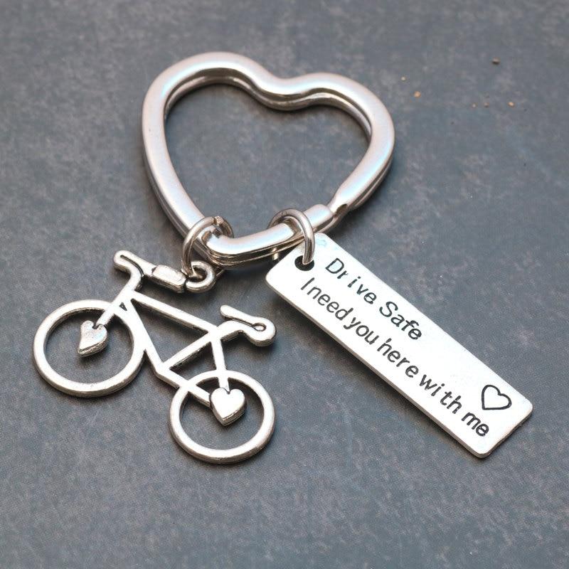 1pcs  3D Retro Bicycle Bike Riding Keychain  Pendant Gift Present Accessories UK