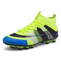 2017 Good Original Men Soccer Cleats Size 35 44 Football Spikes Shoes Green Blue Football Boots