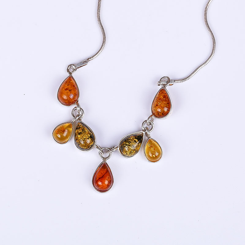 Real amber necklace Free shipping 925 sterling silver Natural real amber Fine jewelry Delivery of clavicular necklac real amber necklace necklace 925 sterling silver natural real amber fine jewelry delivery of clavicular necklace