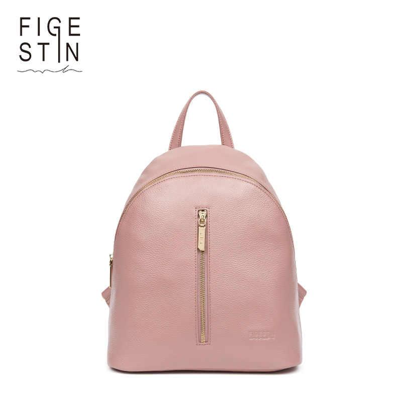 Figestin Малый Для женщин рюкзаки из натуральной кожи рюкзак для девочек- подростков Повседневное школьная сумка ccfca1726e8