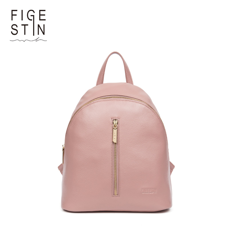 FIGESTIN Small Women Backpacks Real Genuine Leather Backpack For Teenager Girls Casual School Bag Soft Tophandle Shoulder Bag figestin real genuine leather women backpack ladies laptop casual school bags for girls 2017 brand female shoulder