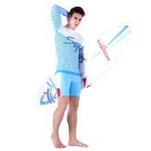 2016 new men's split swimsuit, sunscreen jacket, shirt, long sleeved beach swimsuit, NY610