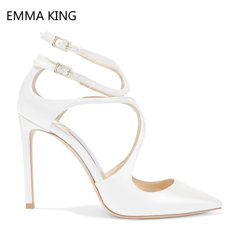 Pink Patent Leather High Heels Pointed Toe Pumps For Women Sexy Buckle Stiletto Heels Cross Straps Summer Shoes Sandals FemmePink Patent Leather High Heels Pointed Toe Pumps For Women Sexy Buckle Stiletto Heels Cross Straps Summer Shoes Sandals Femme