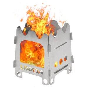 Image 1 - Lixada tytanowa zewnętrzna kuchenka kempingowa przenośna ultralekka składana kuchenka na drewno kieszonkowa kuchenka Camping wędkowanie piesze wycieczki
