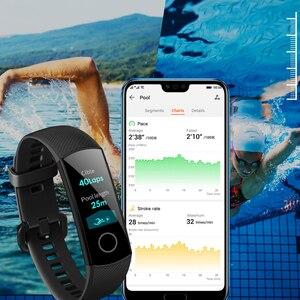 """Image 5 - Oryginalny Huawei Honor Band 4 5 inteligentne nadgarstek Amoled kolor 0.95 """"ekran dotykowy Swim postawy wykrywania tętna snu przystawki"""