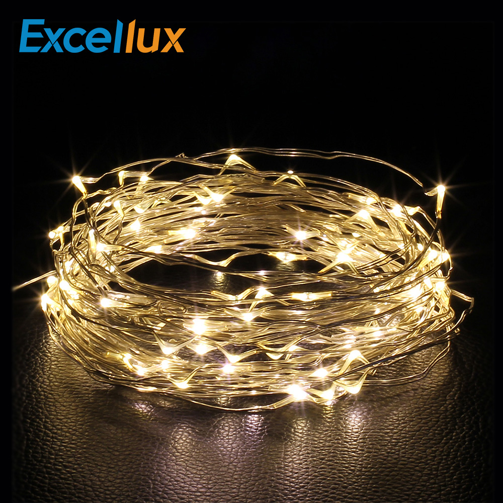 2M & 3M Led String Lights Copper Wire Battery Powered Festival Lamp Fairy Light For Chrismas  Holiday Home Party DIY Decoration