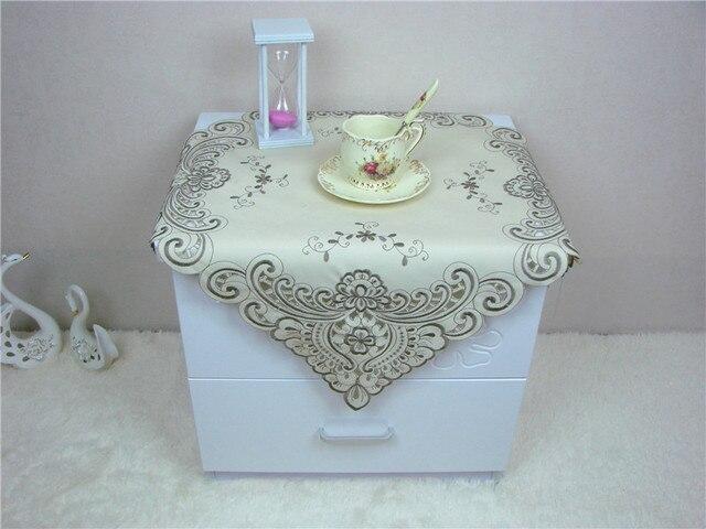 Quadrato di lusso in raso Jacquard tovaglia Ricamata cucina tea ...