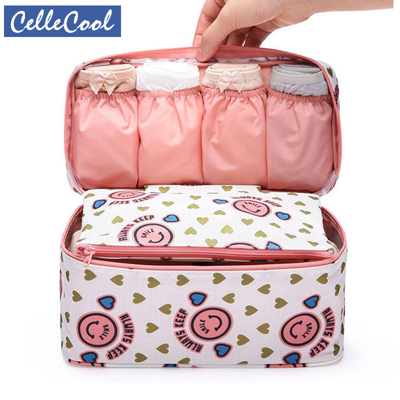 CelleCool High Quality Makeup Bag Travel Bra Underwear Organizer Bag Cosmetic Daily Supplies Toiletries Storage Bra Bag Case