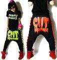 New 2015 fashion Women Hip hop dance wear sweatpants ds costume female loose big crotch pencil pants harem trousers