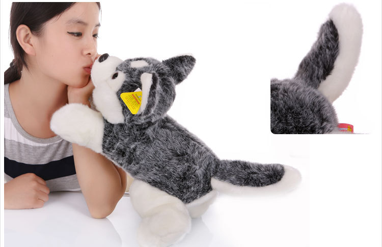 stuffed animal 60 cm plush simulation husky dog husky doll gift  w2520 stuffed animal 115 cm plush simulation lying tiger toy doll great gift w114
