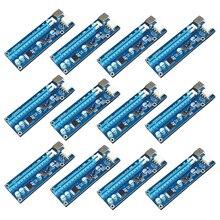 12 teile/paket USB 3.0 PCIe PCI-E Express 1x zu 16x Extender Riser-karten-adapter mit 6PIN stromkabel für BitCoin Mining maschine