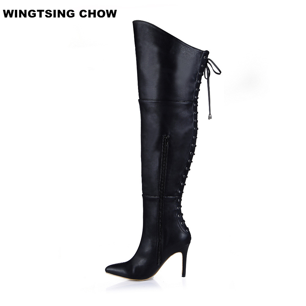 2017 sexy clubbing high heels women motorcycle boots 17 ...