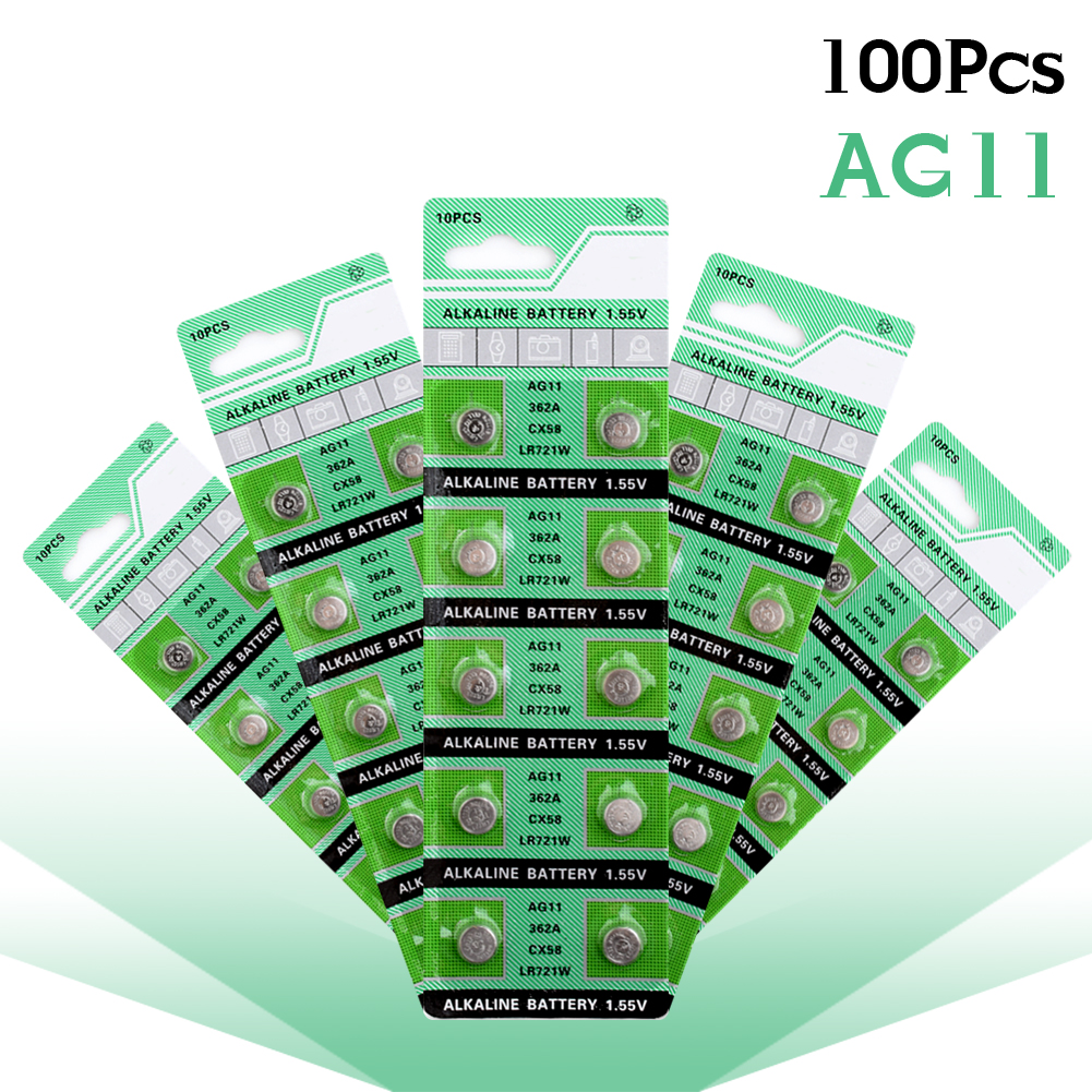 Dashing 10 Pcs For Watch Button Battery Ag11 362 Sr721sw Sr58 Tr721 Alkaline Coin Cell Button Batteries Button Cell Batteries Consumer Electronics