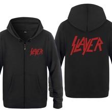 Slayer Rock Band Sweatshirts Mannen 2018 Mens Rits Hooded Fleece Truien Vesten