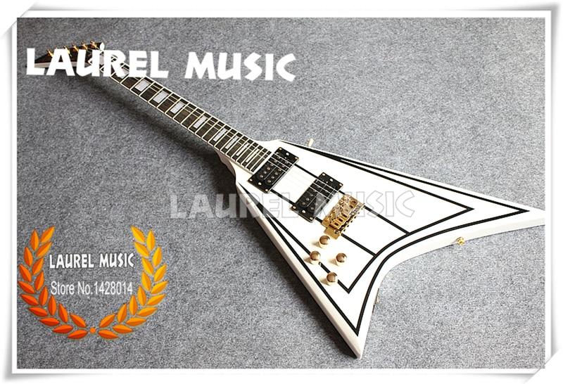 china professional customization shop electric guitar white flying v left handed guitar custom. Black Bedroom Furniture Sets. Home Design Ideas