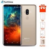 Blackview S8 5,7 дюймов HD + соотношением сторон 18:9 Экран мобильного телефона Android 7,0 mtk6750t восемь ядер 4G B + 6 4G B 4 камеры смартфон 4G