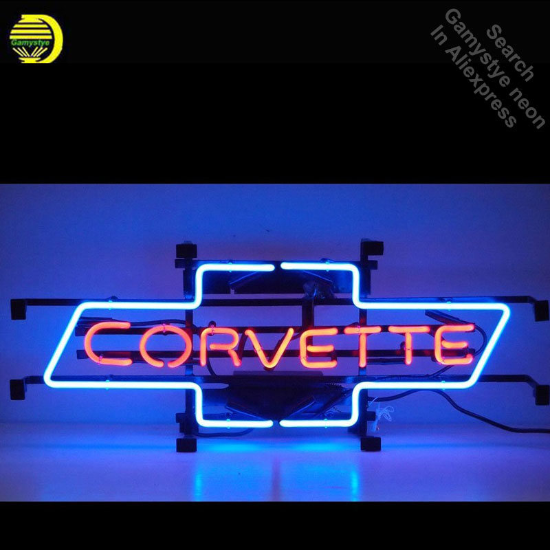 Motorcycles Corvette Bowtie Neon Signs Handcrafted Neon Bulb Beer Bar Pub Glass Tube Iconic Sign Professional Light Car LOGO custom signage neon signs pizza beer real glass tube bar pub signboard display decorate store shop light sign 17 14
