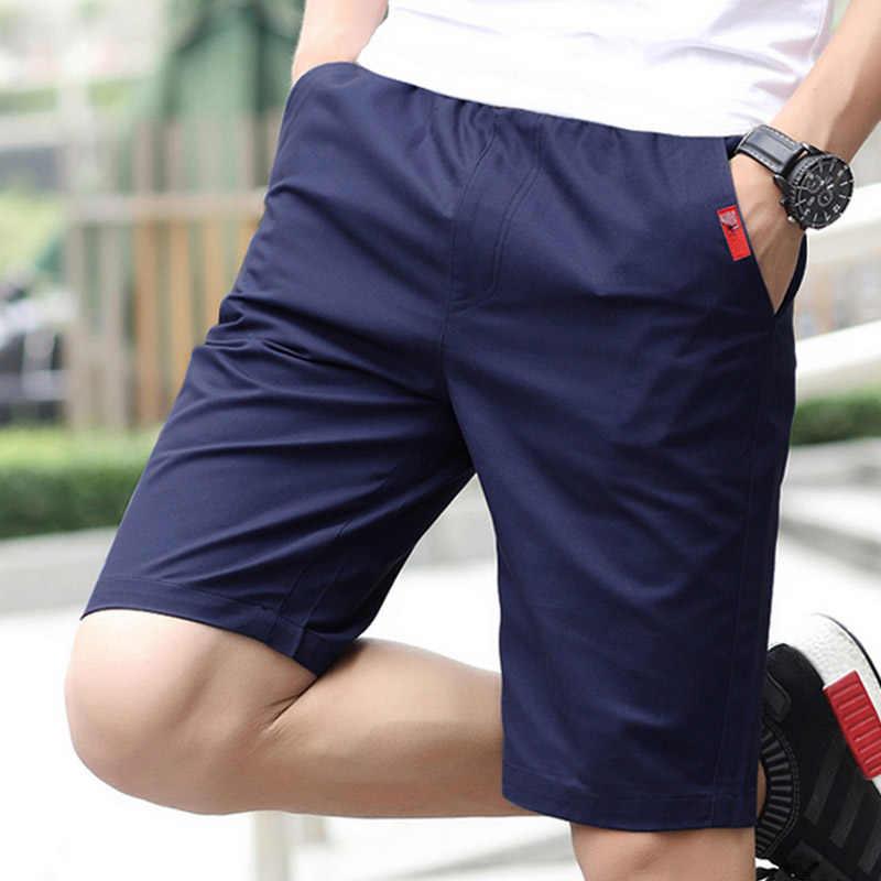 新 2019 夏薄型安いな正規綿 100% 格安紳士服、カジュアル男性スウェットパンツビーチ固体ストレートスリムフィットショートパンツ