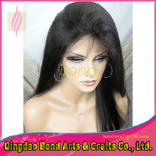 Top Quality 100% Virgin Brazilian Human Hair Straight Lace Front Wig / Glueless Full Lace Wigs With Baby Hair In Stock!!!