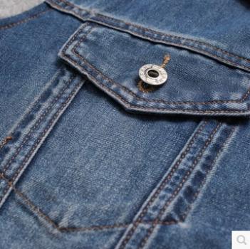 Patchwork jasje stijl toevallige denim jasje mannen jas mode Veste - Herenkleding - Foto 5