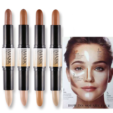 Makeup Creamy Double-ended  Contour Stick Contouring Bronzer HighlighterCreate 3D Face Concealer Full Cover Blemish