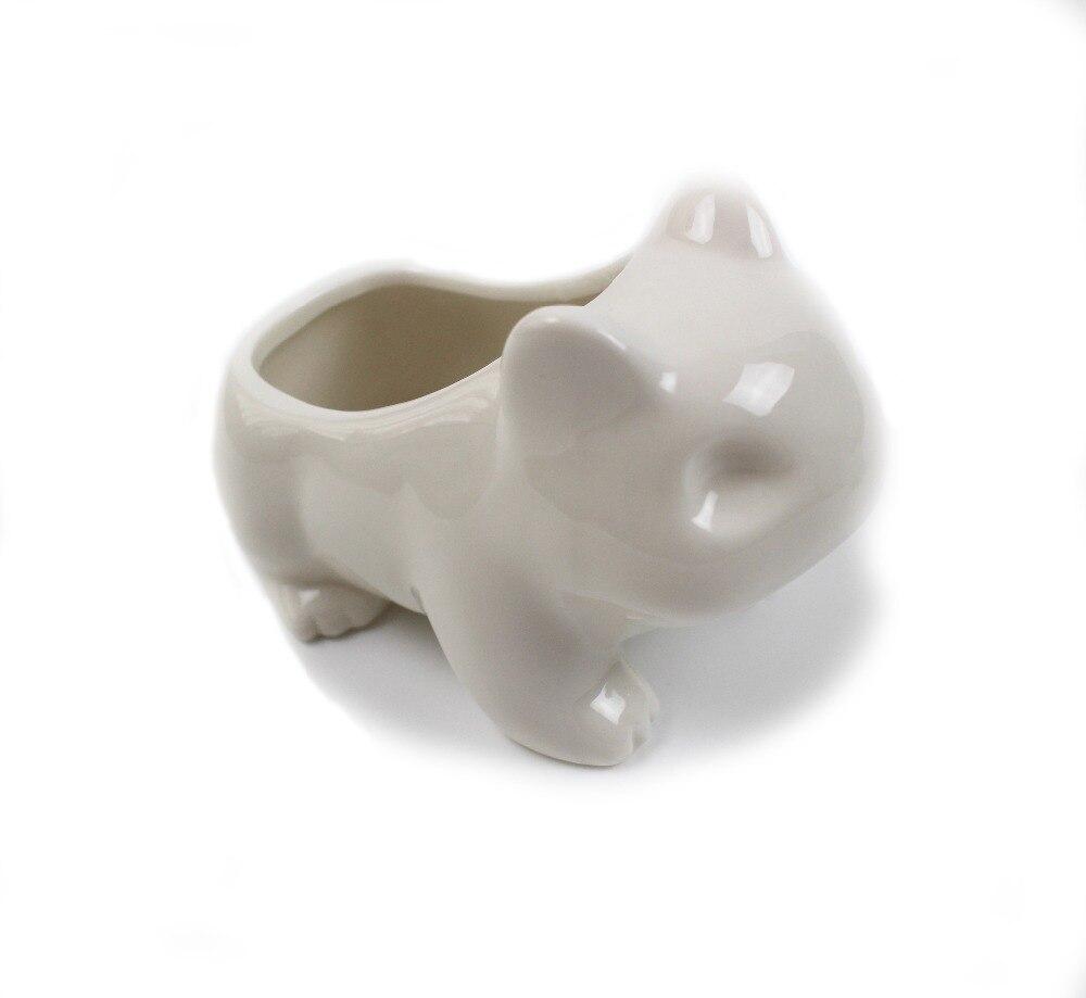 Kawaii Keramik Blumentopf Bulbasaur Succulent Planter Cute Weiß / - Gartenzubehör - Foto 3