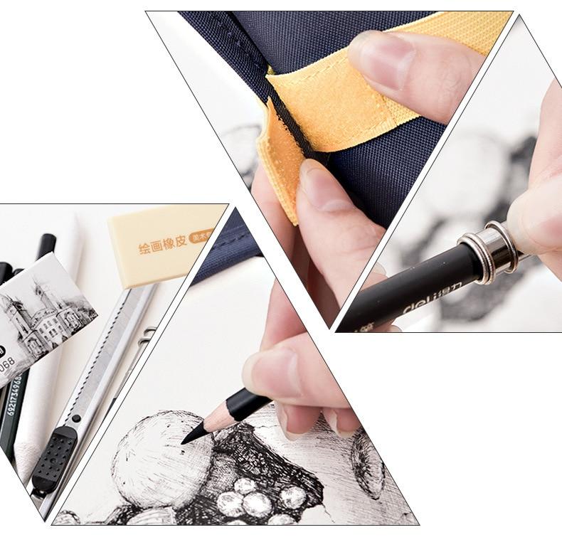 conjunto iniciante pintura desenho ferramentas estudantes profissionais