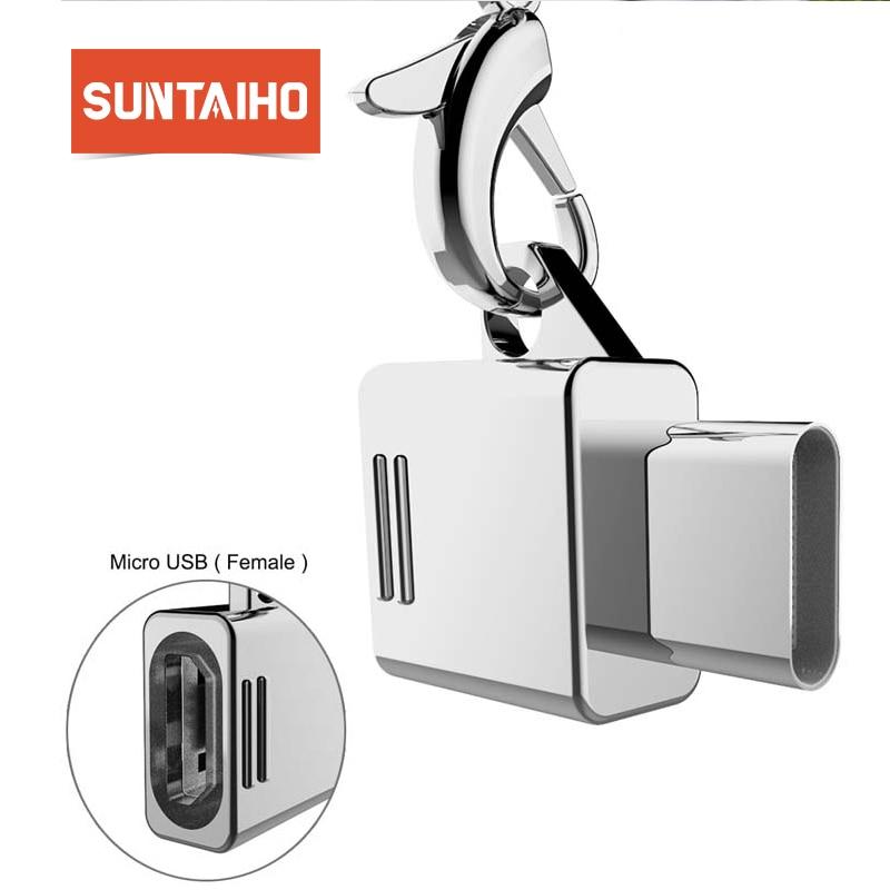 Suntaiho Micro USB Type C OTG Adapter Micro USB to USB 3.1 Type C Male OTG Adapter for Samsung S8 S9 Plus Note 8 LG for Macbook