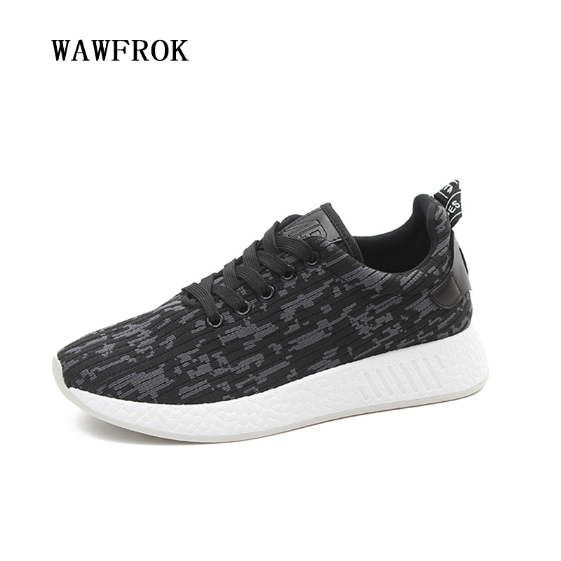 Women Casual Shoes 2018 Spring Summer Fabric Shoes Woman Flats Platform Fashion Lace-Up Breathable Women Sneakers