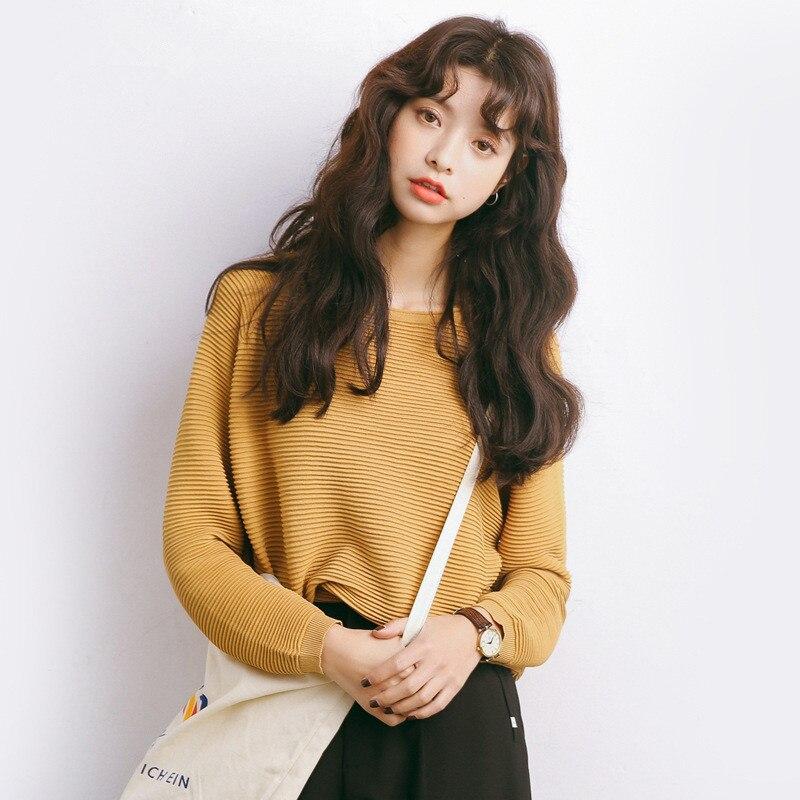 Висока еластичність Свободний светр - Жіночий одяг