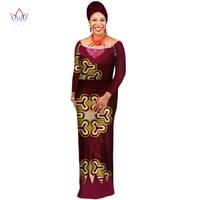 Africa Clothing Elegant Vestido Women long Dress Plus Size 6xl o neck Dashiki Patchwork Party full sleeve Dress none BRW WY2537