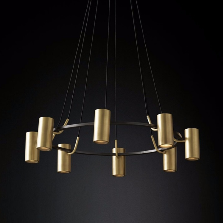 Germany Design 8 Lights Antique Brass Chandelier / Modern LED Ceiling Lamp фонарик send force germany 7107 gl 7017 17 led
