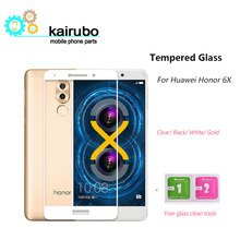 5pcs Huawei honor 6x glass tempered screen protector film full cover white black gold protection honor6x 5.5