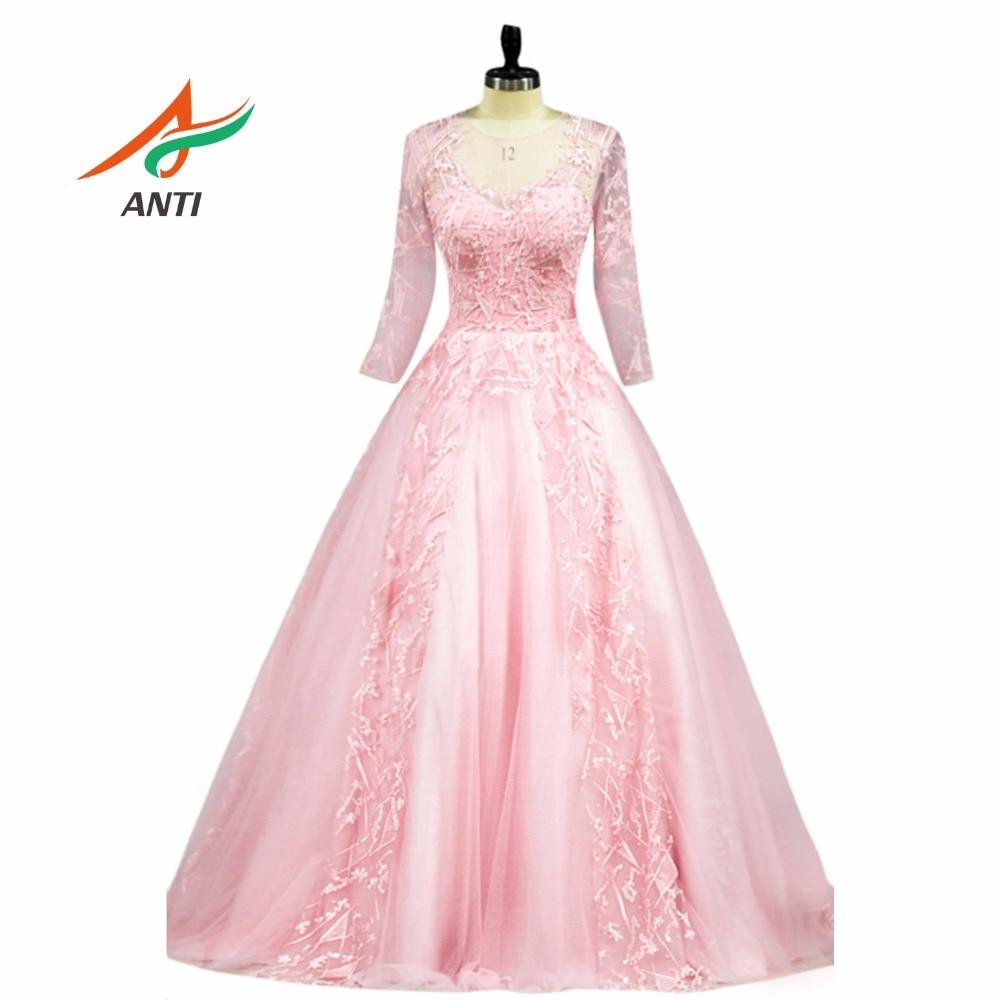ANTI Luksoze 2018 Quinceanera Dresses Dantella Princess vestido 15 anos Beading Rhinestones Vestidos De Quinceaneras Sweet 16 Dresses