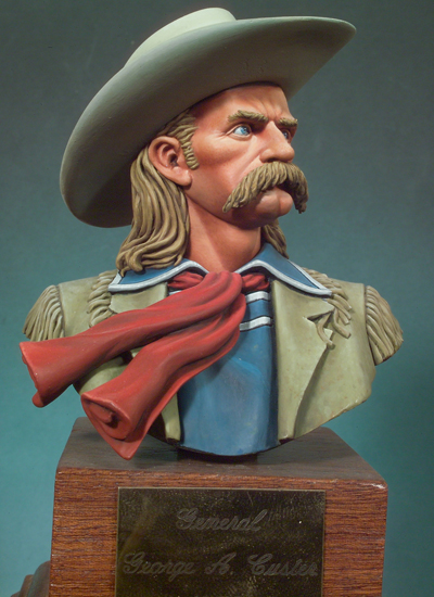 housenka george armstrong - Resin Kits 1/10 George Armstrong Custer  bust  not include the base    Resin Model DIY TOYS