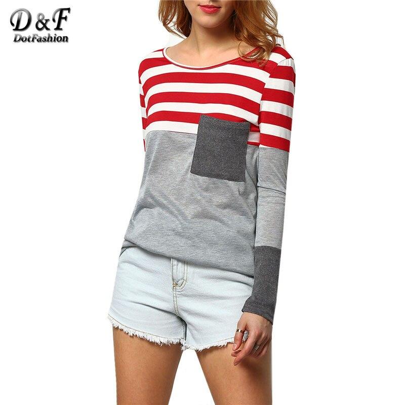 Striped Long Sleeve T Shirt Women S