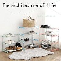 Household Storage Shoe Shelves Stainless Steel Shelf Decoration Living Room Accessories Hallway Cabinet Organizer Shoe Rack