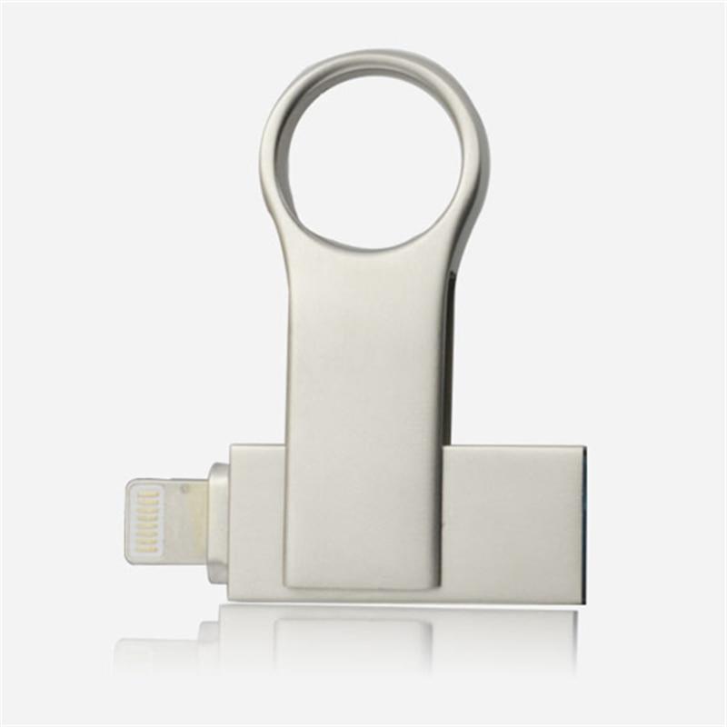 USB2 0 Metal USB Drive OTG Pen Drive 16gb 32gb 64gb 128gb USB Memory Stick For iPhone X 8 7 6 6S Plus USB Flash Drive in USB Flash Drives from Computer Office