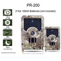 PR200 Trail Camera 12MP 49pcs 940nm IR LED Hunting Camera IP56 Waterproof 18650 Battery Wild Camera Night Vision
