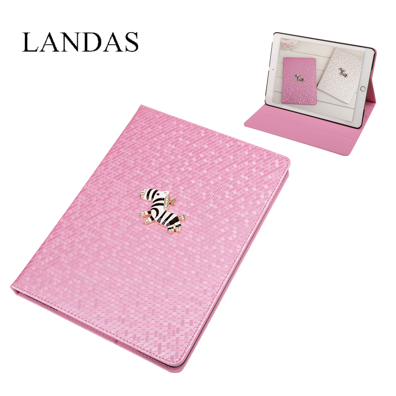 Landas Tablet Case For iPad 2 3 4 Shell Cover Leather Case For iPad 3 2 4 Smart Cover Case With Stand For Tablets PC