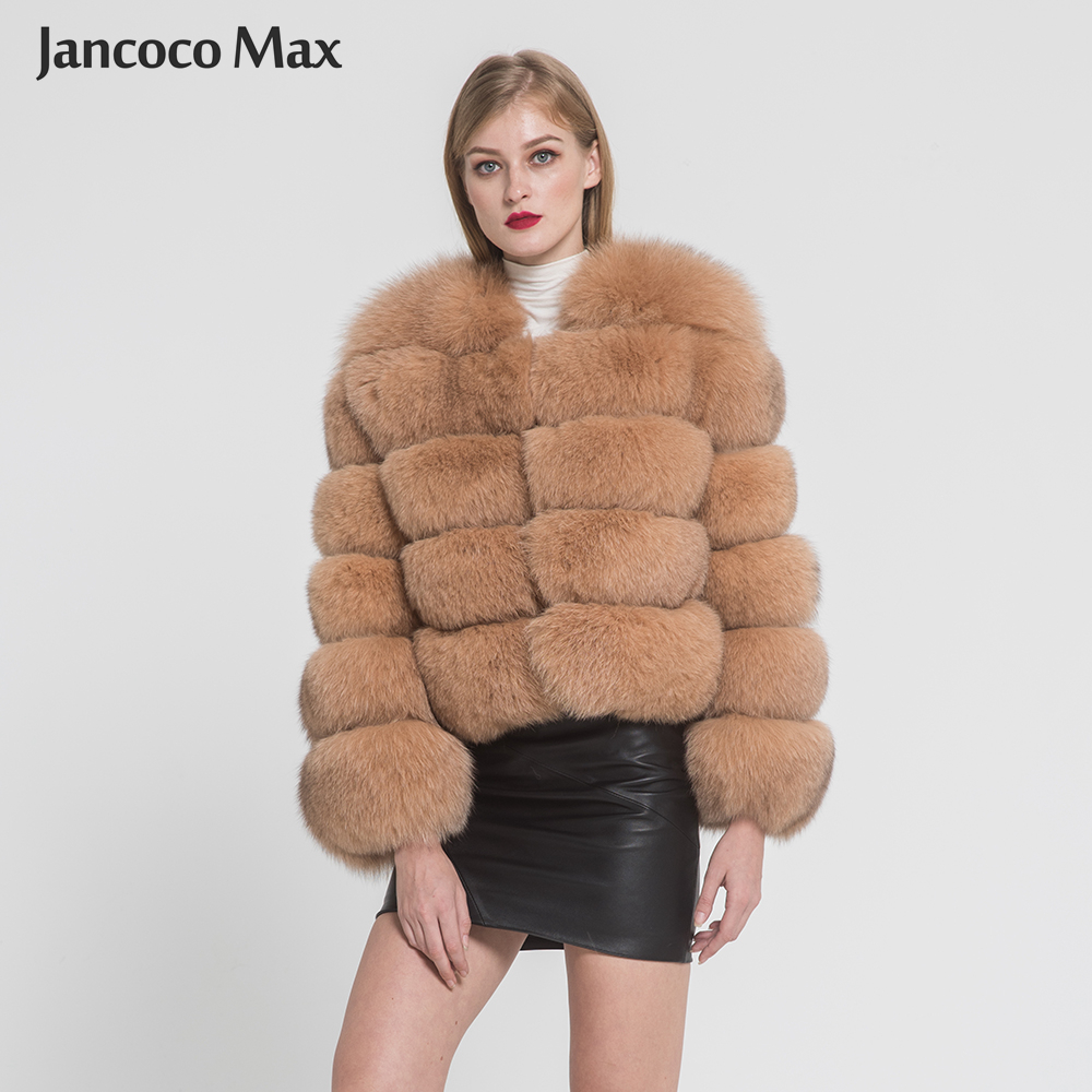 2019 New Arrival Women Luxury Real Fox Fur Coat Winter Saga Fur Jacket Top Quality Outerwear S1797-in Real Fur from Women's Clothing    1