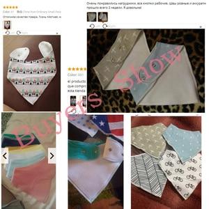 Image 5 - 16 sztuk/zestaw Unisex Baby Bandana śliniaki, 100% bawełniane śliniaki, Super stylowe wodoodporne i przeciw zabrudzeniom absorbują