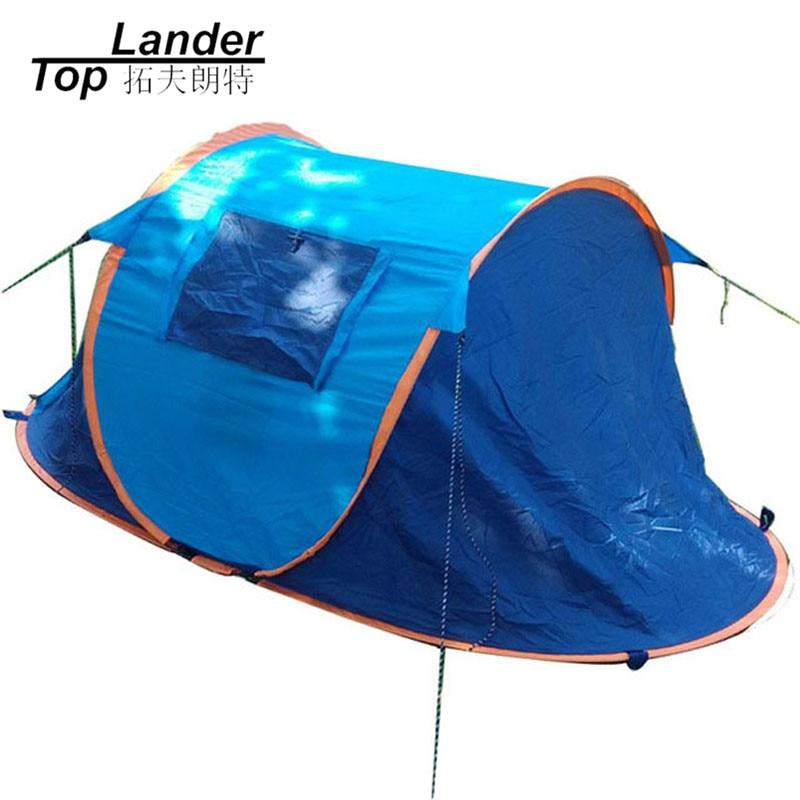 Automatique Pop UpTent 2 Personnes tente de camping étanche Instantanée Ombre Plage Tentes Portable Pop Up tente de plage