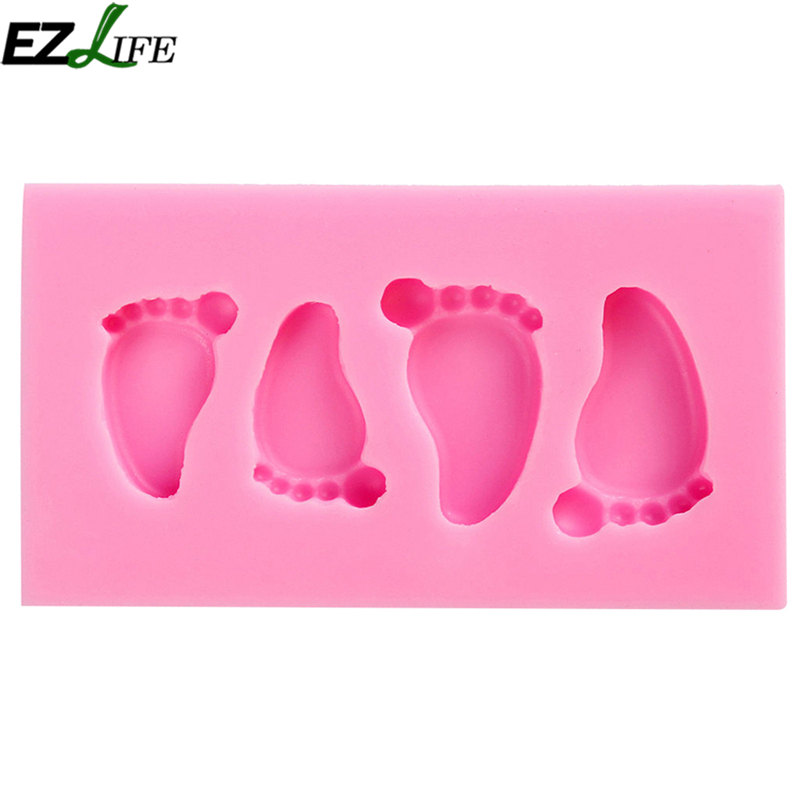 1pc Lovely Baby Foot Molding Silicone Mold High Quality Fondant Silicone Mold Cake Decorating Tools Cake Chocolate Mold #81