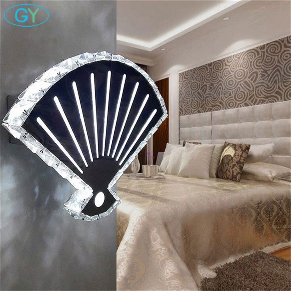 все цены на 110V 220V 240V Chinese Style Modern 20W LED wall light Chinese Fan crystal wall lamp Loft home wandlamp led wall lighting онлайн